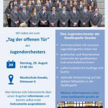 """Einladung zum """"Tag der offenen Tür"""" des Jugendorchesters"""